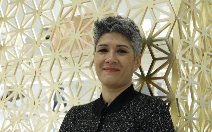 Ana Rodríguez, ayer durante la inauguración de una nueva tienda en...