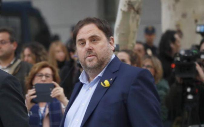 Una de las últimas imágenes del líder de ERC, Oriol Junqueras,...