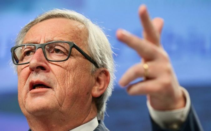 El presidente de la Comisión Europea (CE) Jean-Claude Juncker, en...