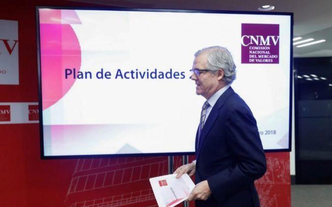 l presidente de la Comisión Nacional del Mercado de Valores,...