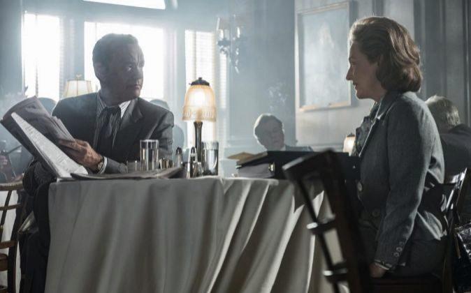 Tom Hanks y Meryl Streep interpretan a Ben Bradlee y Katharine Graham...