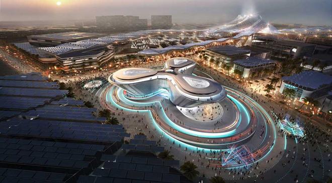 El nuevo recinto ferial de Dubai, en construcción, tiene 438...