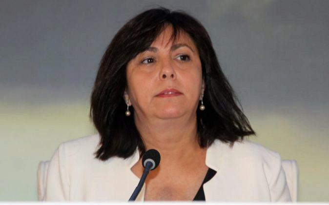Rosa García, presidenta de Siemens Gamesa, en la pasada junta de...