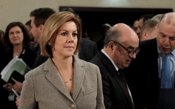 - La miinistra española de Defensa, Maria Dolores de Cospedal, asiste...