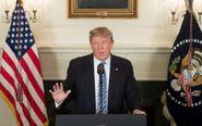 El presidente de los Estados Unidos, Donald Trump, ofrece un discurso...