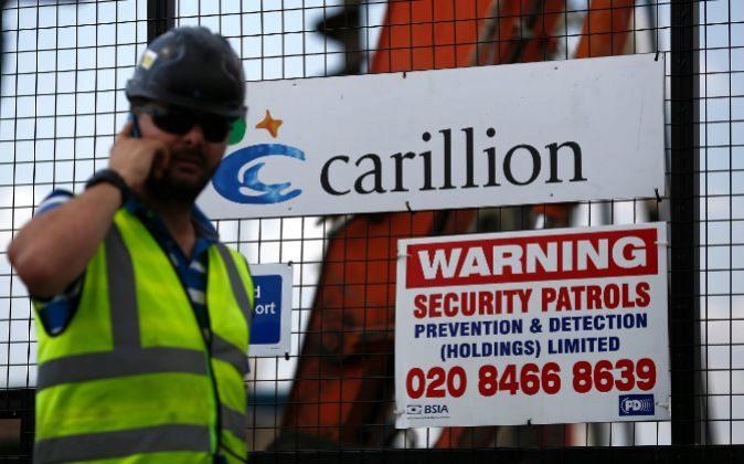 Obrero de la constructora británica Carillion.