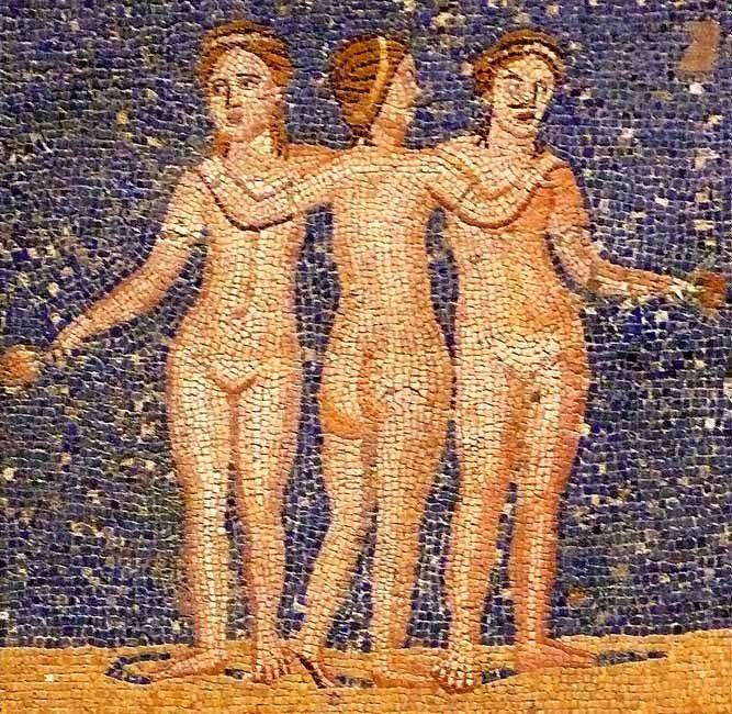 'Mosaico de las Tres Gracias', s. III-IV, Museu...