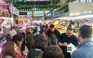 Ambiente del Mercado de Ruzafa, en Valencia.