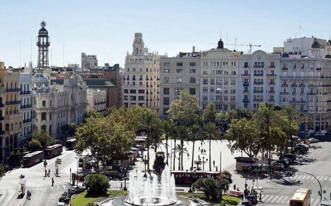 Plaza del Ayuntamiento de Valencia.