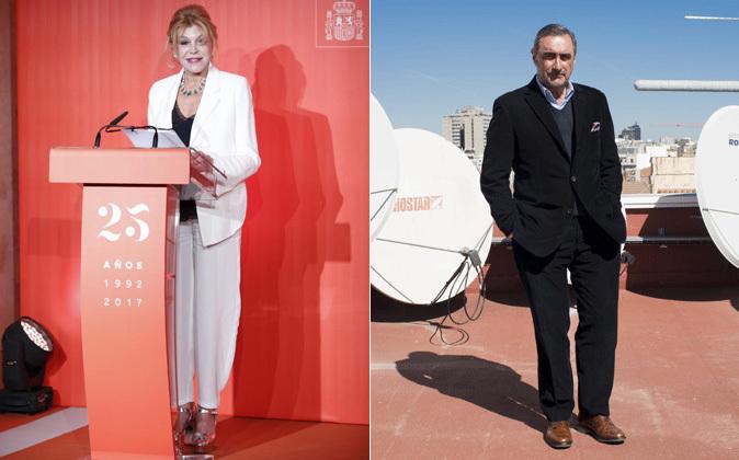 Carmen Thyssen y Carlos Herrera.