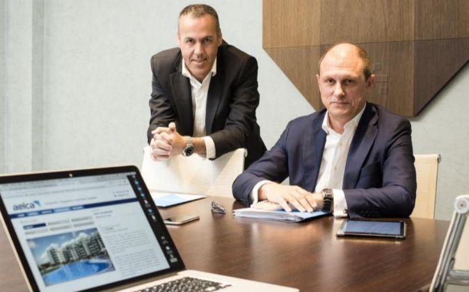 Javier Gómez y José Juan Martín, consejeros delegados de Aelca.