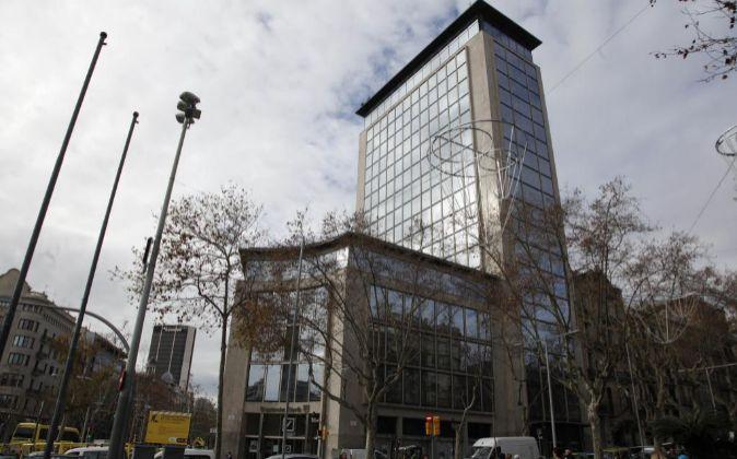 Antiguo edificio de Deutsche Bank, propiedad de KKH, en Diagonal.