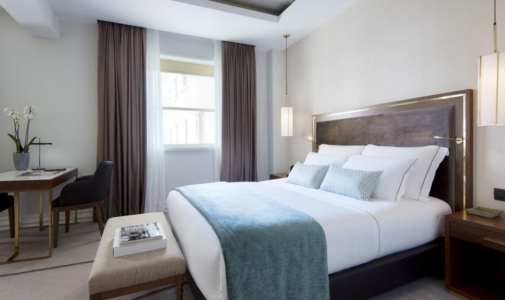 Una de las impresionantes suites del hotel con vistas a Las Vegas.
