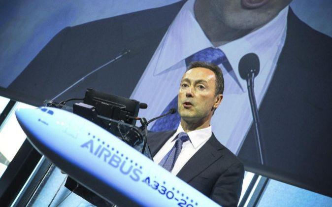 Fabrice Brégier, durante una rueda de prensa celebrada en Colomiers,...