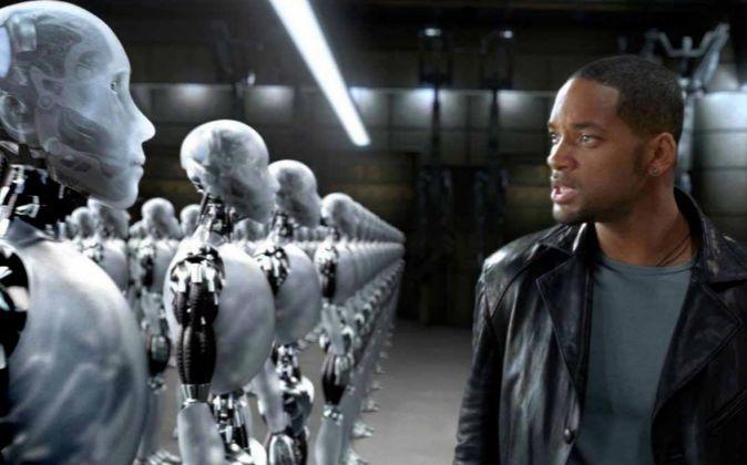 La película 'Yo robot' interpretada por Will Smith (en la...