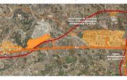 La ubicación del nuevo parque entre la A-3 y el circuito de Cheste