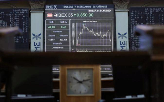 Imagen del interior de la Bolsa de Madrid