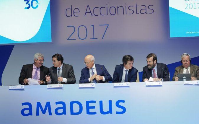 Imagen de la junta de accionistas de Amadeus de 2017.