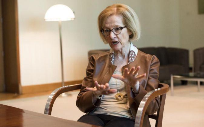 Daniéle Nouy, presidenta de Consejo De Supervisión del BCE.