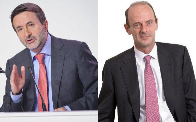 Josu Jon Imaz, consejero delegado de Repsol, y Miguel Martínez San...
