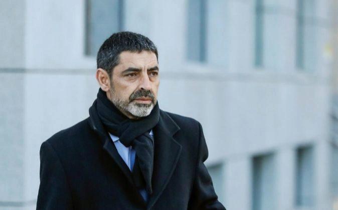 El exjefe de los Mossos d'Esquadra, Josep Lluis Trapero, a su...