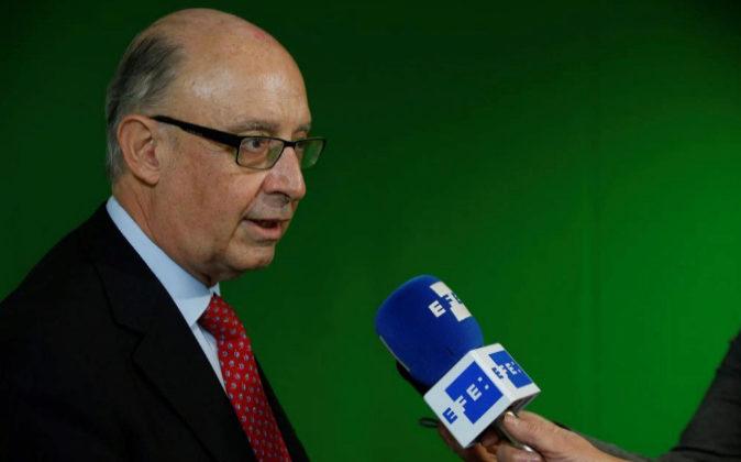 El ministro de Hacienda y Función Pública, Cristóbal Montoro, ayer...
