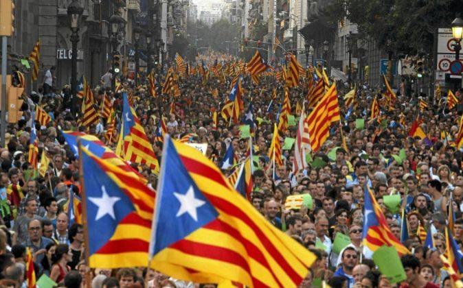 Manifestación en el centro de Barcelona convocada por la Asamblea...