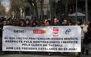 Manifestación en 2012 de funcionarios de prisiones frente a la sede...