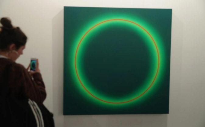 Obra de José María Yturralde expuesta en la galería Javier López...