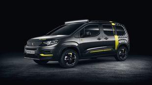 El Peugeot Rifter 4x4 Concept está realizado en un novedoso tono gris...