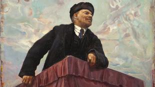 """Lenín en la tribuna"", de Isaak Brodski. Óleo sobre..."