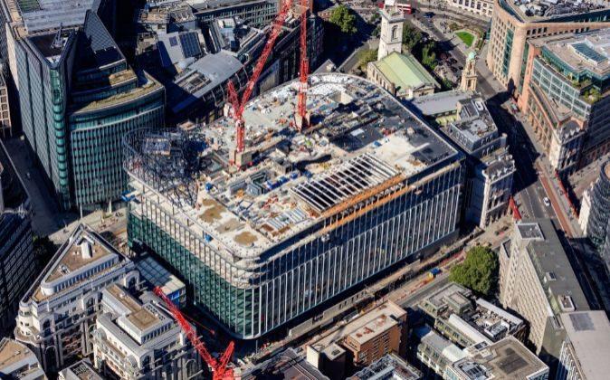 Estado de las obras de la nueva sede de Goldman Sachs en Londres