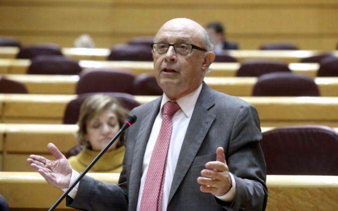 El ministro de Hacienda y Función Pública, Cristóbal Montoro