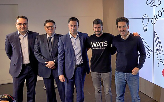 De izquierda a derecha, Óscar Ugarte (Seed Capital), Juan Manuel...