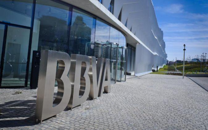 Imagen de la sede de BBVA en Madrid