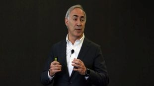 El consejero delegado de Vodafone España, Antonio Coimbra, en su...