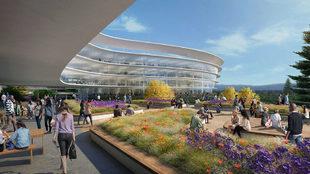 Oficinas de Apple, ignauguradas en septiembre de 2017.