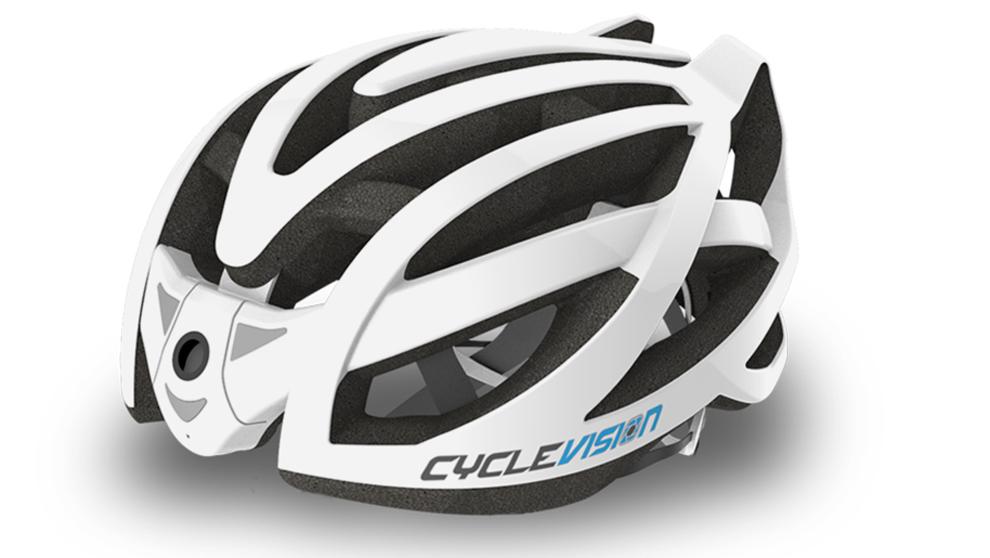 Cyclevision Edge, casco para ciclistas con cámara trasera Edge.