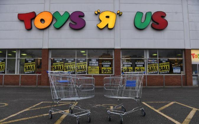 """Tienda de Toys """"R"""" Us cerrada de Londres (Reino Unido)."""