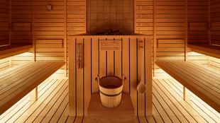 Habitación capsula inspirada en las saunas finlandesas, de la cadena...