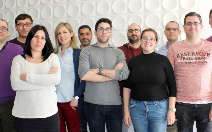 Parte del equipo de Biometric Vox.
