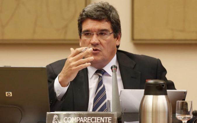 José Luis Escrivá, presidente de la AIReF, en el Congreso.