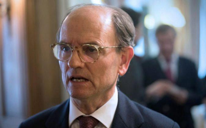 El presidente de Talgo, Carlos de Palacio Oriol, atiende a los medios...
