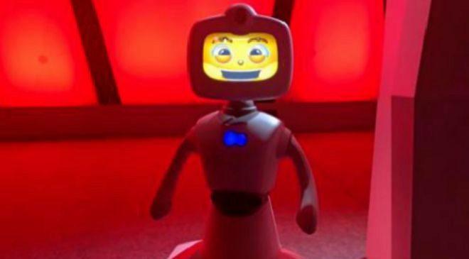 El robot doméstico taiwanes Robelf es capaz de relacionarse y...