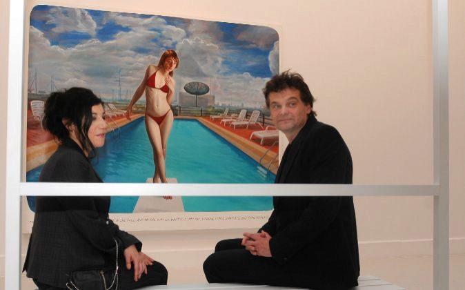 Markus Muntean y Adi Rosenblum. Los artistasposan en su muestra del...