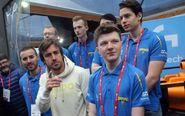 Fernando Alonso presentó su equipo de eSports en el MWC de Barcelona.