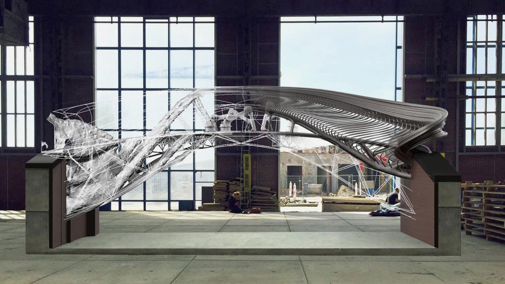 Puente impreso con técnica 3D del holandés Joris Laarman.