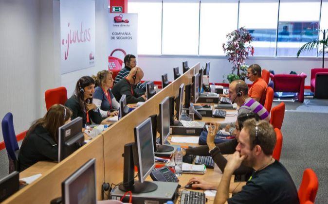 Centro de teleoperadores de Línea Directa Aseguradora.