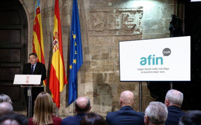 El presidente de la Generalitat, Ximo Puig, durante la presentación...