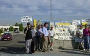 Profesores de autoescuela protestan durante una protesta ante la...